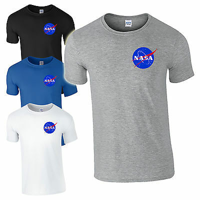 NASA Space Astronaut T-Shirt - Cool Geek Nerd Star Logo Unisex Kids Men Gift Top