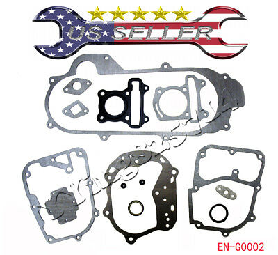 12 Pcs Scooter Moped Go Kart ATV Engine Head Gasket Set GY6 49cc 50cc 139QMJ