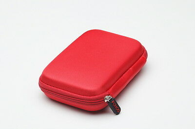 FOHOG Logic Portable HDD Hard Drive Carrying Case Pouch Red