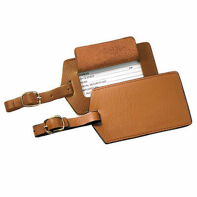 Royce Leather Popular Leather Luggage Tag 3 Colors Luggage Accessorie NEW