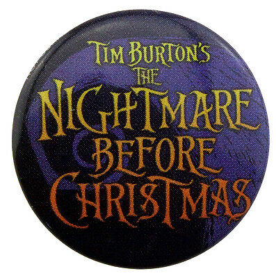 25mm The Nightmare Before Christmas Logo Button Badge New Official Merch