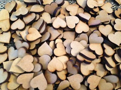 A1A 20mm Hearts Laser Cut MDF Scrapbook  Embellishments Wooden Craft Shape Gift