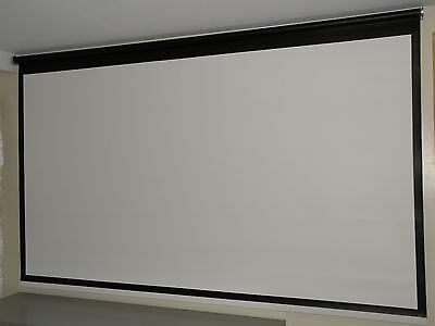 "110"" 16:9 Remote Control Tubular Motorized Projection Screen Shade"