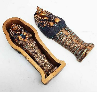 egyptian antique statue king tut and mummy box home decor