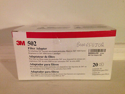 3M 502 Filter Adapter - Box of 20