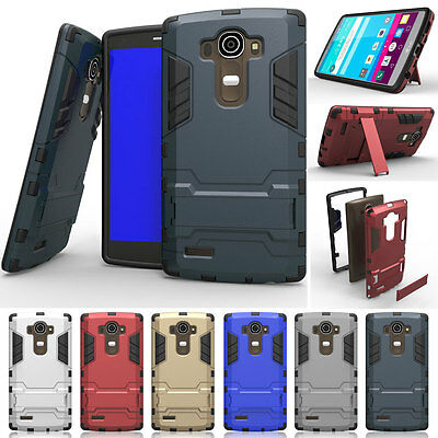 Hybrid Rugged Shockproof Armor Hard Case Protective Cover Clip Holster For LG G4