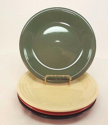 Fiestaware mixed colors Salad Plate Lot of 4 Fiesta 7.25 inch small plate 4C3M17