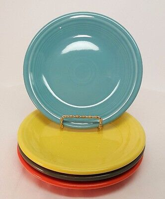 Fiestaware mixed colors Salad Plate Lot of 4 Fiesta 7.25 inch small plate 4C3M11