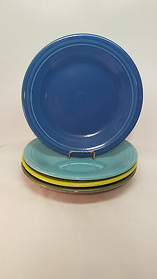 Fiestaware mixed colors Luncheon Plate Lot of 4 Fiesta 9 inch plates 4C2M4