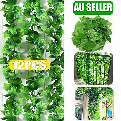 NEW 12X  2.4M Artificial Ivy Leaf Vine Plant Garland Fake Green Wedding Party De
