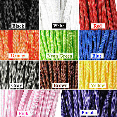 16/50/100/328FT 550 Paracord Parachute Cord Lanyard Rope Outdoor Desert Survival