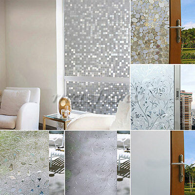 45x100cm Frosted Privacy Home Bathroom Window Glass Static Adhesive Film Sticker