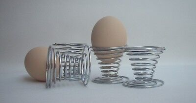 Stainless Steel Spring Wire Style Boiled Egg Holder Tray Useful Lovely Storage