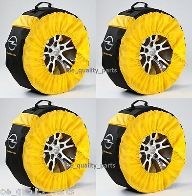"""GENUINE GM OPEL TIRE TYRES BAG WHEEL CASE COVER SET OF 4x 14"""" 15"""" 16"""" 17"""" 18"""" L"""