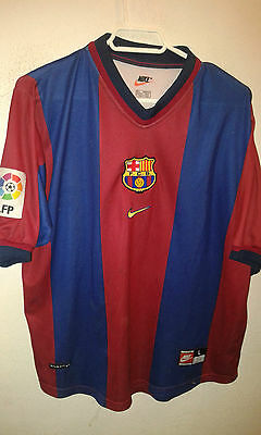 FC Barcelona L SIGNED Team Football shirt camiseta futbol