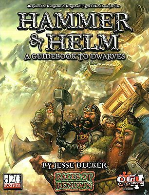 HAMMER & HELM-A GUIDEBOOK TO DWARVES-RPG-Roleplaying Game-d20-(SC)-very rare