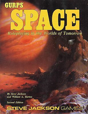 GURPS-SPACE-Roleplaying in the Worlds of Tomorrow-RPG-Steve Jackson Games-rare