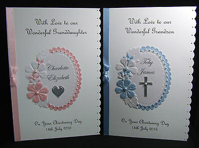 Personalised Christening Baptism Naming Day Card Boy/ Girl