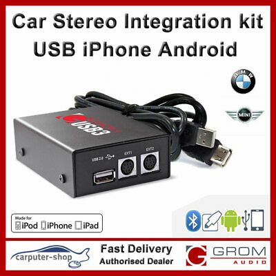 GROM Audio USB3 iPhone Android USB kit for BMW 3 5 7 series X5 M3 M5 Z3 Z4 -CDC