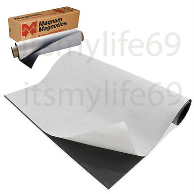 """Magnetic sheets 20 mil x 24"""" x 5', Adhesive backing Magnum® USA Product"""