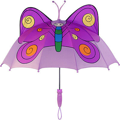 Kidorable Butterfly Umbrella - Purple - One Size Umbrellas and Rain Gear NEW