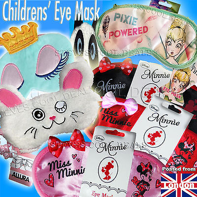 KIDS SLEEP EYE MASK Travel Flight Help SLEEPING Blackout Blindfold Disney Minnie
