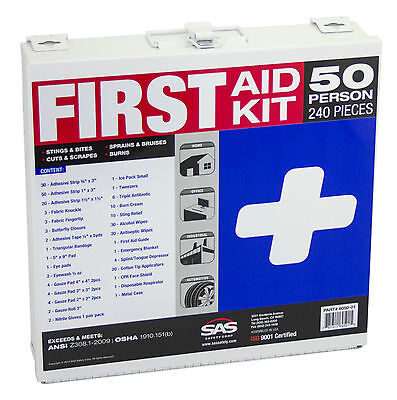 50-Person First-Aid Kit [Metal Case], OSHA, ANSI