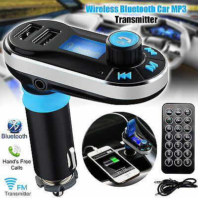 Bluetooth Car Kit MP3 FM Transmitter SD Dual USB Charger Handsfree for iPhone