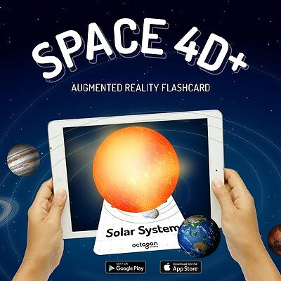 Space 4D Cards, Augmented Reality Flashcards