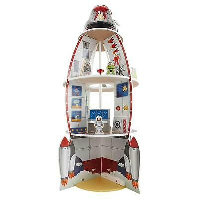 Large Wooden Rocket Space Play Set With Robot Astronaut 14 Accessories 114cm H