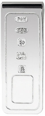 Uk Hallmarked Sterling Silver Harrison Brothers & Howson Money Clip 7078