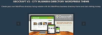 Geocraft V2 - City Business Directory Wordpress Theme
