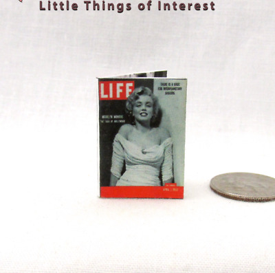 1:12 Scale LIFE MAGAZINE Dollhouse Miniature Book MARILYN MONROE