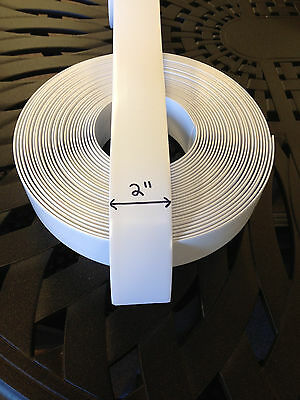 "2"" Vinyl Strapping For Patio Furniture Repair 200' Roll -COLOR Choice!"