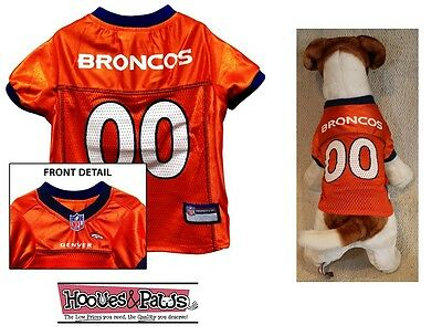 2445c22a7 DENVER BRONCOS Dog Jersey NFL Officially Licensed Football Pet Product Gear
