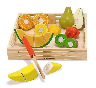 Melissa And Doug Cutting Fruit Wooden Play Food Set Brand New & Sealed