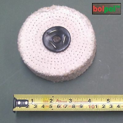 SISAL Buffing Wheel 100mm x 2 Section - Coarse Polishing Mop For Metal  S100/2