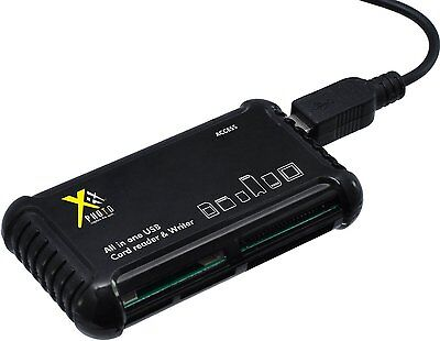 XIT High Speed All in 1 USB Memory Card Reader/Writer
