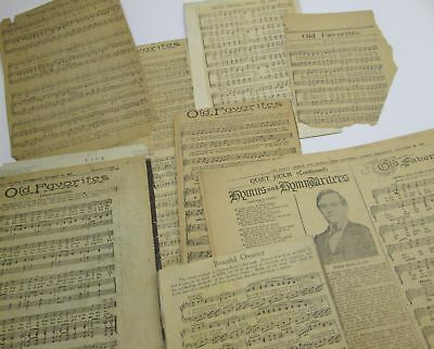 1920 Old Favorites Church Hymn SHEET MUSIC loose ~ Family Herald and Weekly Star