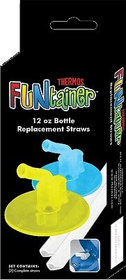 Thermos Funtainer Replacement Straw Kit Set (2 Straws!) Brand New F401 12oz