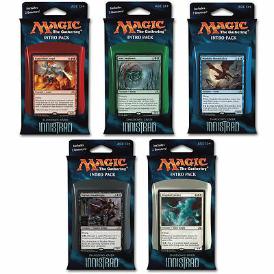 Wizards of the Coast Magic Shadows over Innistrad Intro-Packs 5er Set (EN)