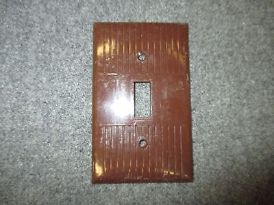 Mid Century Brown Plastic Single Switch Light Plate Cover Made By Donwood