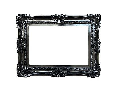 20x24 Black frame - shabby chic frames for pictures art canvas or mirror - fancy
