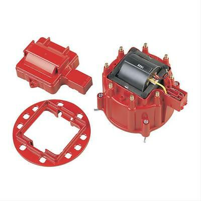 Performance Distributor Cap And Coil Kit Red Ema850013 Male/hei Suit Chevy V8