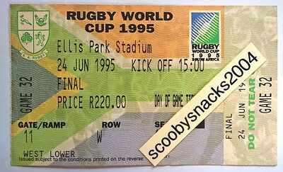 1995 RWC Ticket - Final - South Africa v New Zealand _ RARE UNUSED