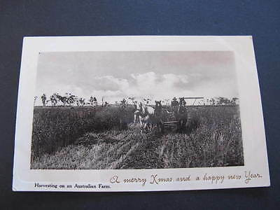 Harvesting on an Australian Farm Postcard