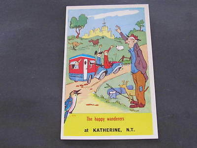 Katherine N.T., Australian Comic Drawn Postcard Artcolour Canterbury NSW