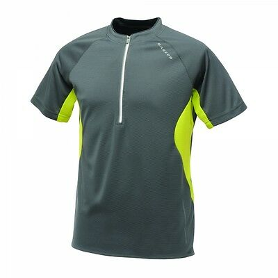 Dare 2b Mens Retaliate Lightweight Sports Cycling Jogging T-shirt Jersey Grey