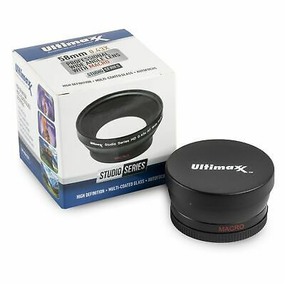 58mm 0.43x Professional HD Wide Angle Lens With Macro For Canon, Nikon, + More