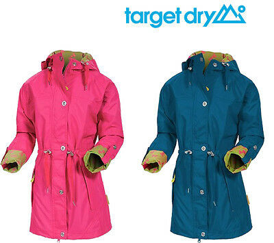 Target Dry Charlotte Parka Girls 3/4 Length Waterproof Hooded Jacket